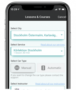 image of Mitt Körkort app english